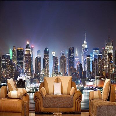 new york wallpaper for bedroom large 3d mural wallpaper manhattan new. Black Bedroom Furniture Sets. Home Design Ideas