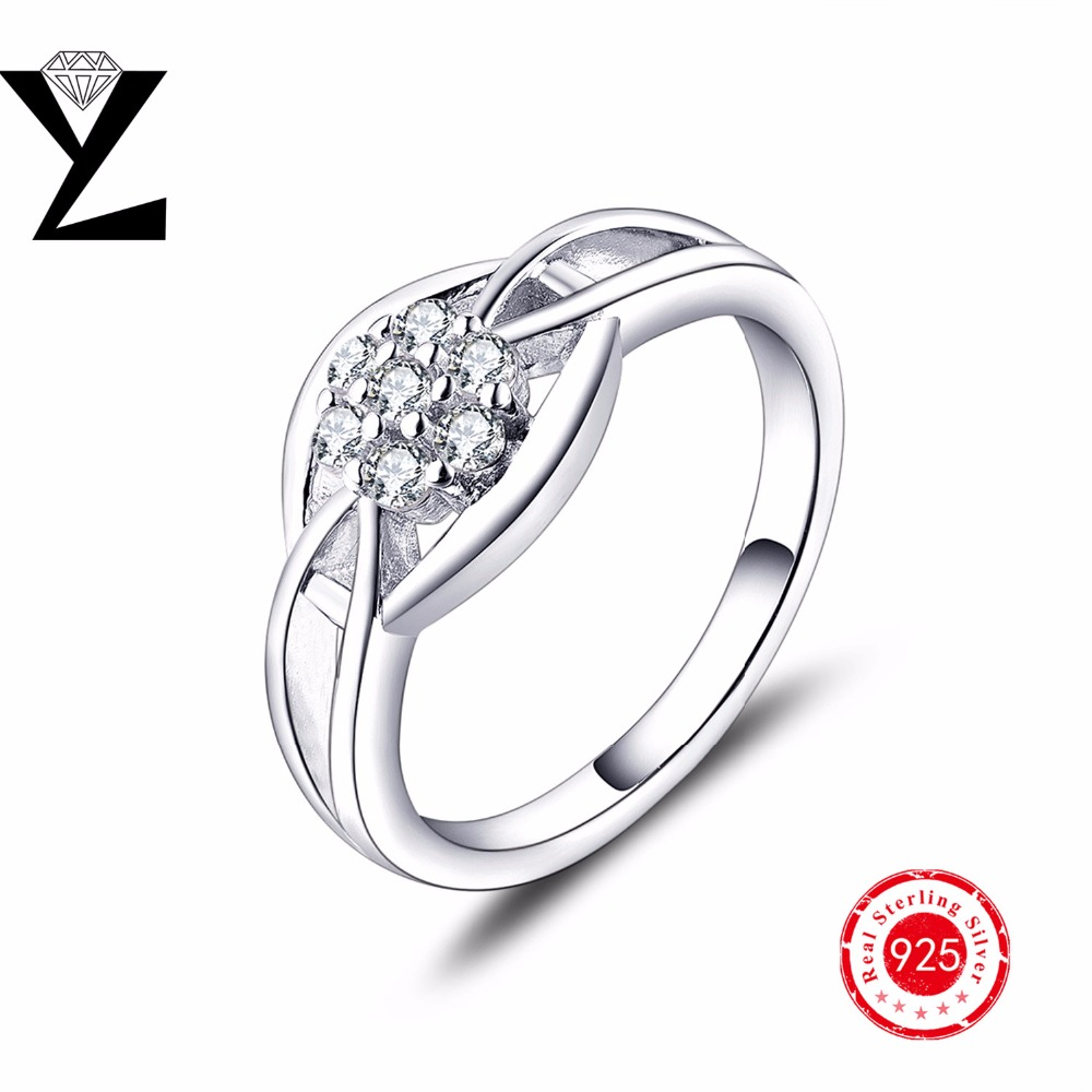 New! Geometric 925 Sterling Silver Filled Promise Engagement Rings For Her Women Jewelry Valentine's Day Gift(China (Mainland))