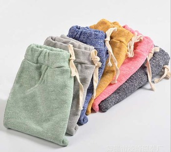 2016 hot sale sophie children harem pants for boys trousers kids child casual pants candy solid colors