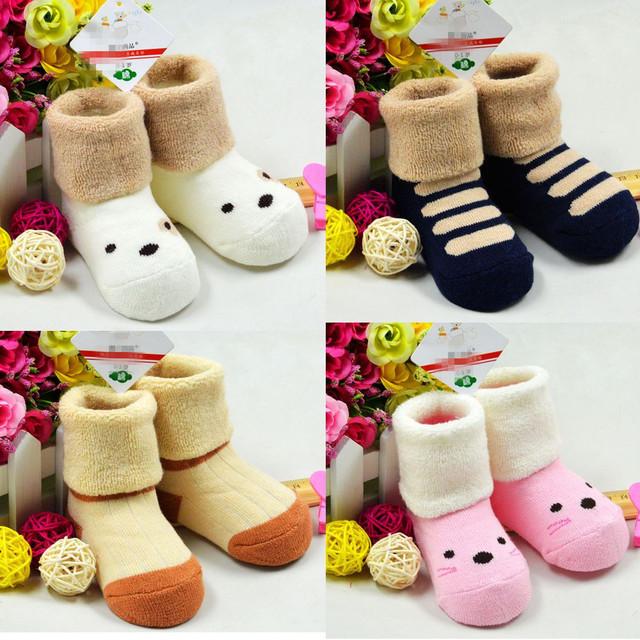 Детские носки 1-3year девочка малыша оптово-новорожденный пола носки нет костей способствовало ...
