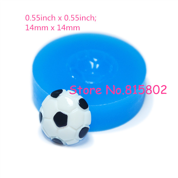 Free Shipping FYL112U Football Silicone Flexible Mold 14mm - Miniature Food Decoden Mini Sweets Mould, Baby Mould Resin Mould(China (Mainland))