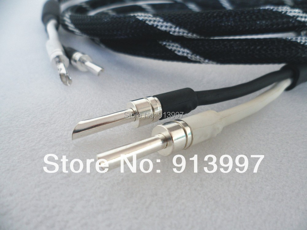 supply hifi speaker cable,pure silver sawtooth plug.6N OFC ,model DZ-3508 OD12mm*2.5M - DIN ZHI AUDIO EQUIPMENT FACTORY store