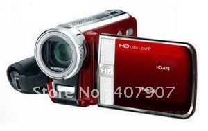 "Wholesale! Hot selling! HD-A75 digital video camcorder 1080P HD digital video camera 16.0Mega pixel 3.0""LCD touch screen"