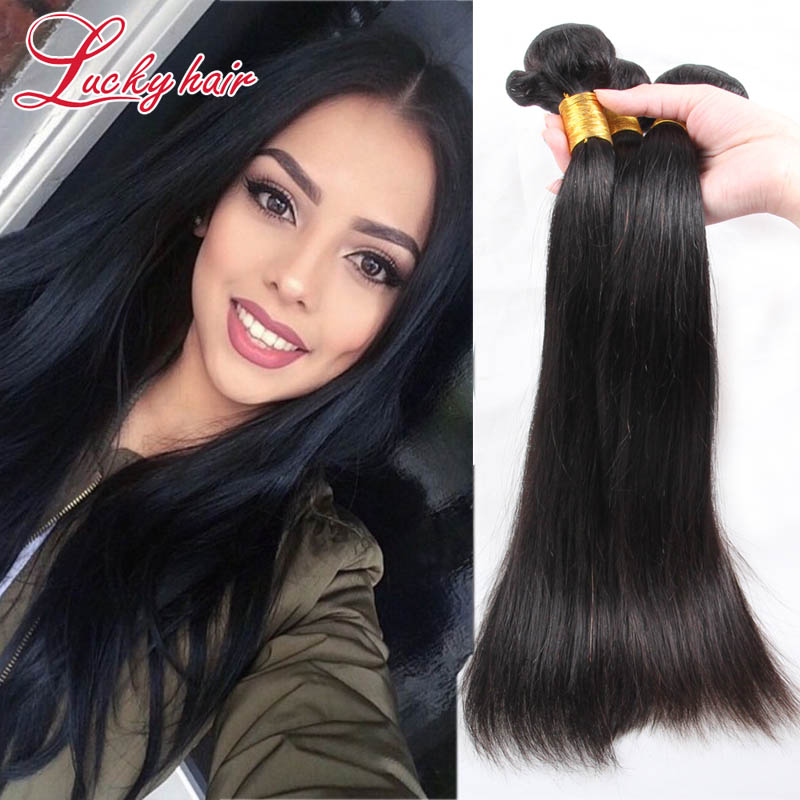 Ms Lula Brazilian Virgin Hair Straight 7A Unprocessed Cheap Brazilian Straight Hair 3 Bundles Human Hair Extensions Nadula Hair