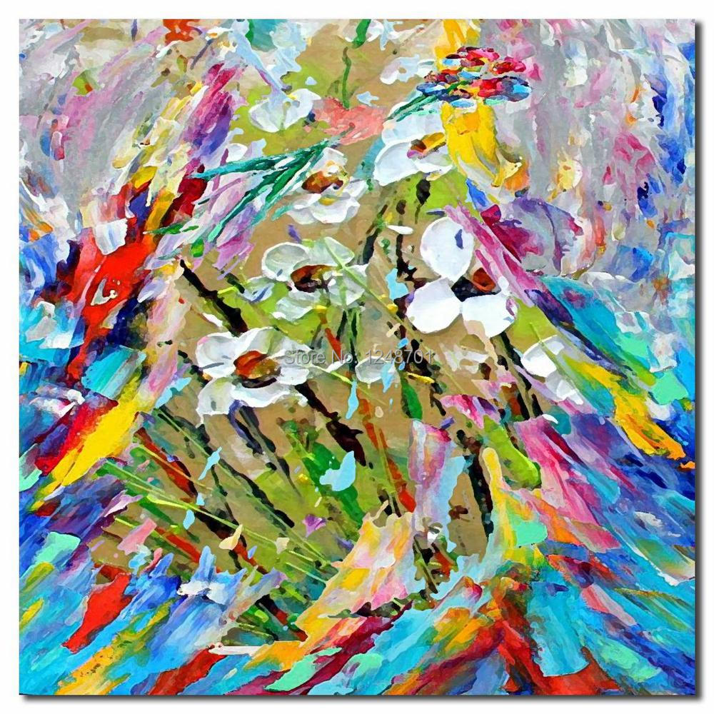 Buy Hand Painted palette knife peacock oil painting high quality peacock canvas painting cheap