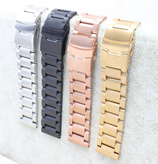 18mm 20mm 22mm 24mm New Solid Stainless Steel Polished Brushed Watch Bands Bracelet