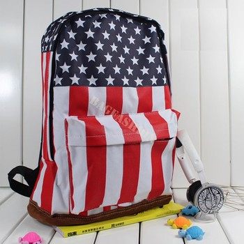 Unisex Canvas teenager School bag Book Campus Backpack bags UK US Flag wholesale retail drop shipping 51