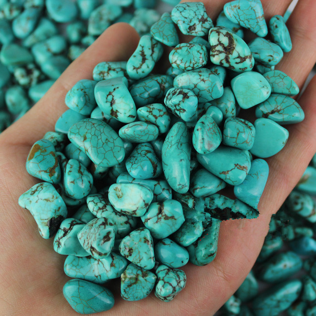 100g Natural Turquoise Rough Rock Polished Dyed Green China