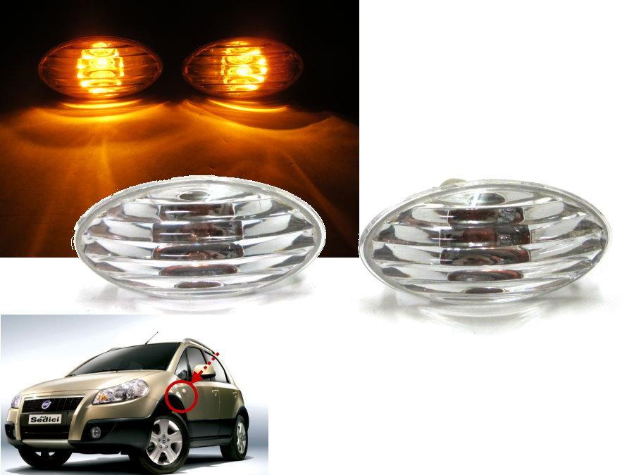 CrazyTheGod Sedici Sport 2005-2012 05-12 Crystal Side Light Repeater Chrome FIAT(China (Mainland))