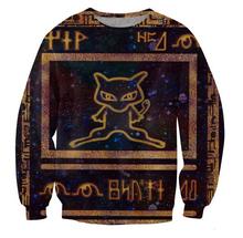 New Sport tops women men unisex 3d sweatshirts cartoon Pokemon jumper Ancient Mew hoodies tracksuit size S-XXL Free shipping