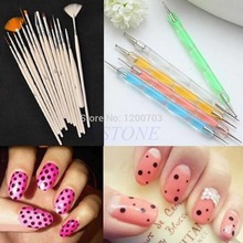 New 20pcs Nail Art Design Brushes Set Dotting Painting Drawing Polish Pen Tools  free shipping(China (Mainland))