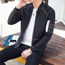 Spring 2017men's leisure shirt collar brand multi-color optional baseball jacket unlined upper garment to coat jacket multicolor(China (Mainland))