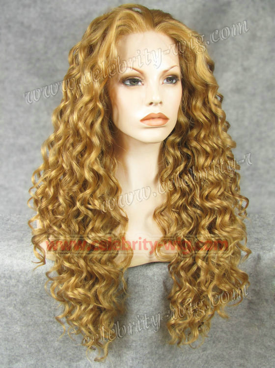 N18-27HY/10 Stunning Curly Synthetic Lace Front Wig Rupaul Wig<br><br>Aliexpress