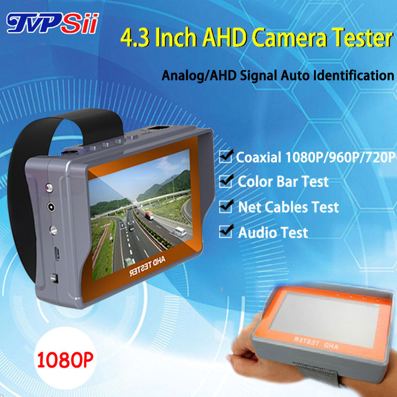 4.3 inch TFT LCD MONITOR COLOR Two in One CVBS Analog 1080P AHD Security CCTV CAMERA TESTER With Network Cable Test Freeshipping(China (Mainland))