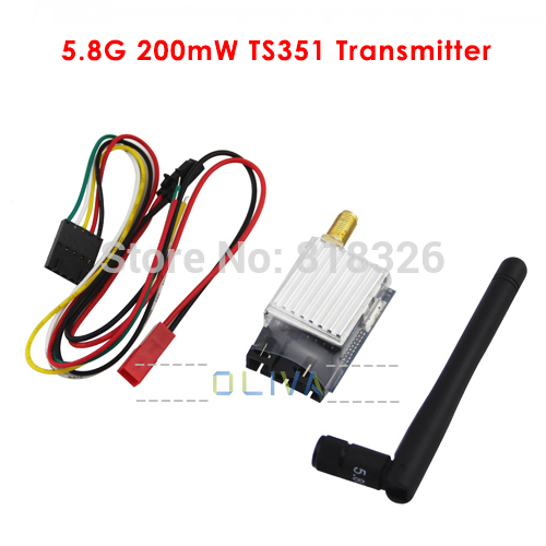 100% Original Boscam FPV TX TS351 5.8G 200mW AV Audio Video Transmitter Sender 2.0Km 2000m Range 5.8 ghz 5705-5945MHz(China (Mainland))