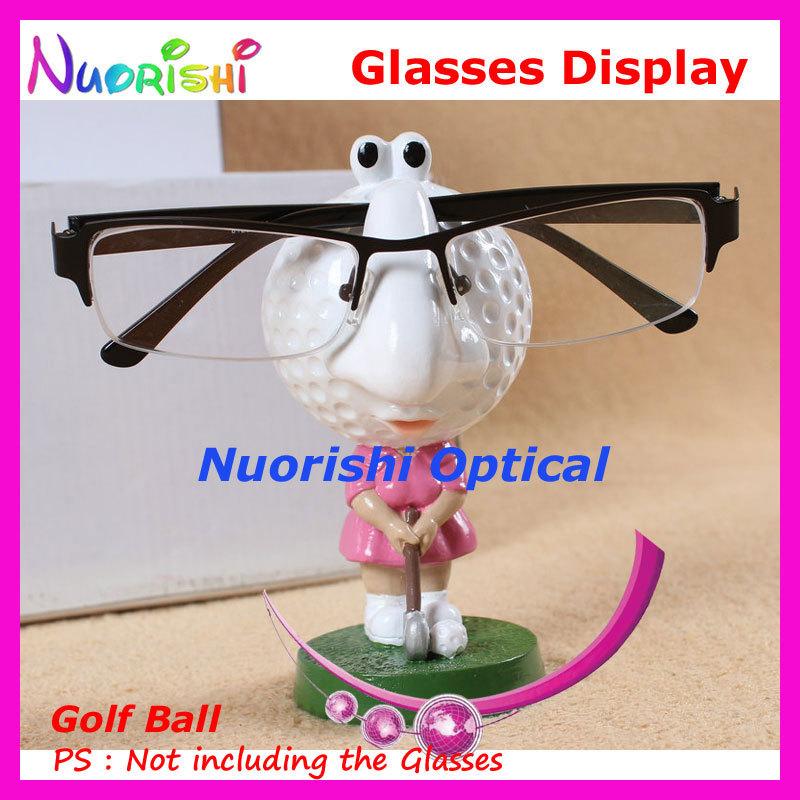 Store Household Car Decoration Cute Cartoon Golf Ball Eyeglass Sunglasses Glasses Display Stands Props Shelf CK02 Free Shipping(China (Mainland))