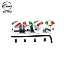 ///MIX LOGO/// 400 x Anti Theft Chrome Silver ITA IT ITALY Flag Map WHEEL VALVE CAP TYRE STEM AIR CAPS for Usual Car Accessory(China (Mainland))