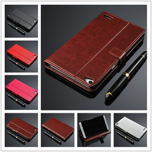 Fashion card holder PU leather case for Huawei Honor X2 wallet flip cover holster For Huawei MediaPad X2 cell phone cases(China (Mainland))