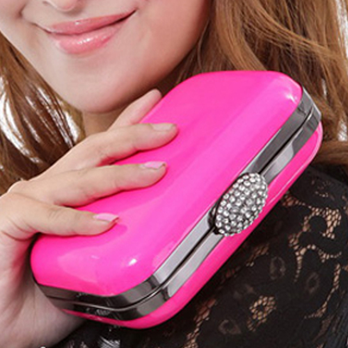 Fashion candy neon color bag ,small day clutch , shoulder chain small bags evening party bag
