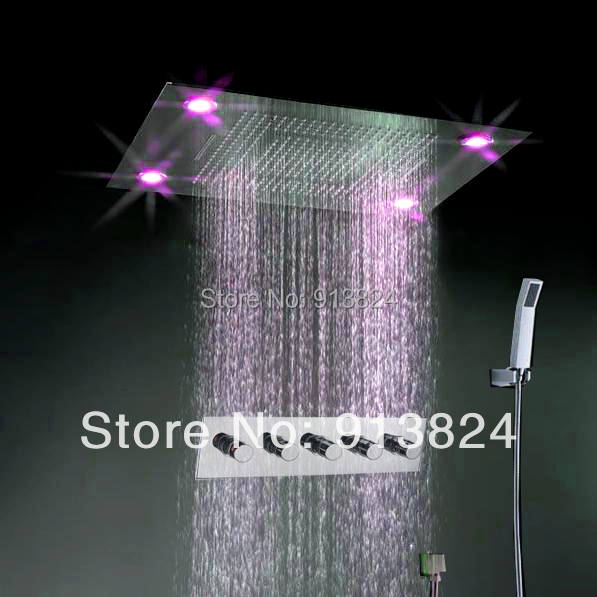 Livraison gratuite baignoire salle de bains douche ensemble robinet mitigeur - Eclairage led douche ...
