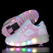 Heelys niño Jazzy, Chicas jóvenes/Niños Heelys Luz LED, niños Zapatos Del Patín De Ruedas, niños Zapatillas de Deporte Con Ruedas Individuales(China (Mainland))