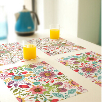 Free Shipping Creative fyy32 custom-made PVC Coaster Placemat waterproof table mat Non-Slip Table Setting Placemat,(China (Mainland))