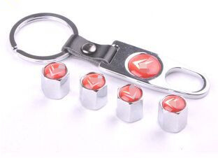 Stainless steel Car Tyre valve series tire valve stem caps gift wrench 4pcs a set(China (Mainland))