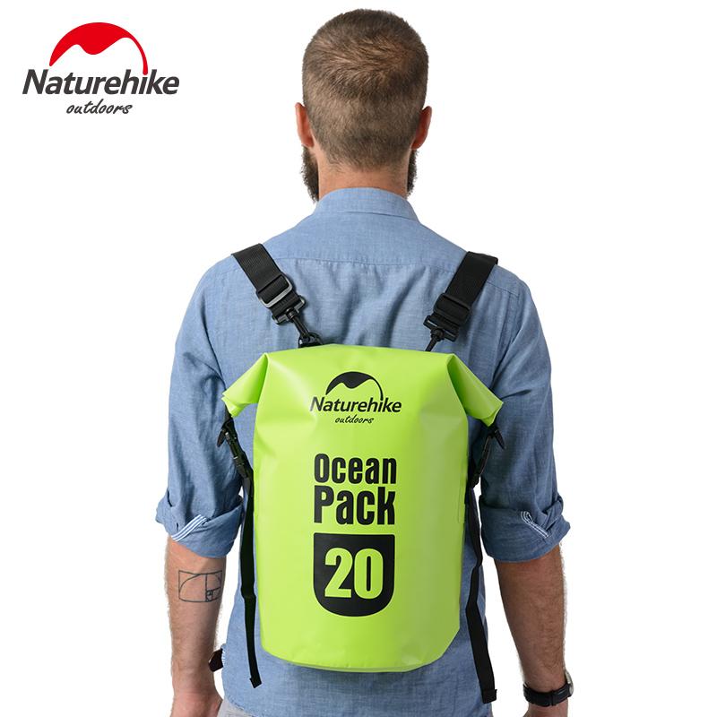 Naturehike Waterproof dry Bag Beach sport Swimming Storage Bag men backpack outdoor River Trekking Bags Camping Ocean Pack(China (Mainland))