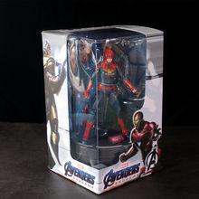 Endgame 17 centímetros Avengers Thor Capitão Marvel Base de luz brinquedos action figure coletores boneca de presente de Natal com caixa(China)