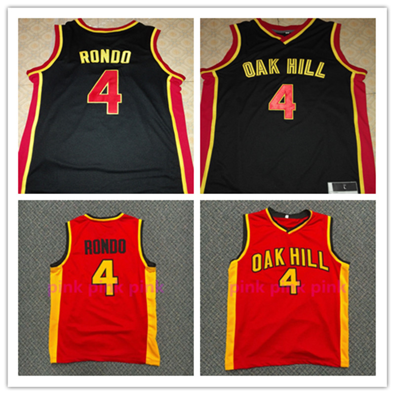 Rajon RONDO JERSEY,#4 Rajon Rondo Oak Hill High School Throwback Basketball Jerseys, Men's Double Stitched Rajon Rondo Jersey(China (Mainland))