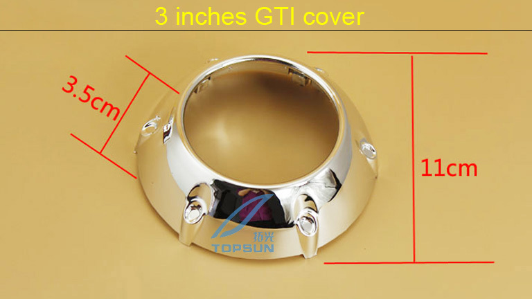 3.0 inch High Temperature Resistant Projector lens Shroud Mask for GTI Style, Headlamp Lens cover(China (Mainland))