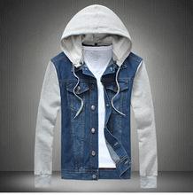 Man Spring 2015 Denim Jacket Men Sportswear Outdoors Casual Jackets, Jeans Jacket Men Plus Size 4XL 5XL(China (Mainland))