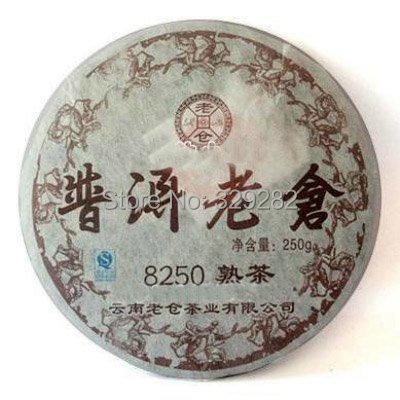 Top grade Chitse Pu'er Tea cake,famous brand LaoCang shu puer tea cake,ripe Puer ,Free Shipping(China (Mainland))