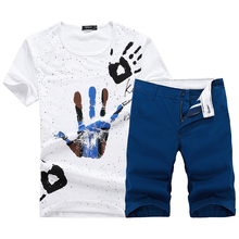 Free Shipping 2015 Summer sport suit men Plus Size Short Sleeve Shirt and Shorts Sets Men's Sportswear MT 0122(China (Mainland))