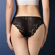 Buy Sexy Lace Transparent Low Waist Hollow T Back Panties Lady Briefs Fashion Women Underwear for $1.49 in AliExpress store