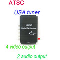 Car ATSC USA Digital TV receiver 4 Video Output 2 Audio Output Fit All Car DVD