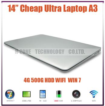 Freeshipping brand new ultrabook notebook Laptop computer  4GB RAM 500GB HDD  Win 7 Intel  N2600 Dual 1.6 Ghz WIFI Webcam