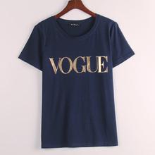8 Colors S-4XL Fashion Brand T Shirt Women VOGUE Printed T-shirt Women Tops Tee Shirt Femme New Arrivals Hot Sale Casual Sakura(China (Mainland))