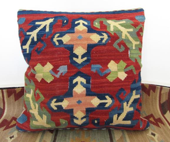 Kilim jilimu mão de lã almofada almofada lombar contar com estrangeiro não contém núcleo 40 x 40 cm