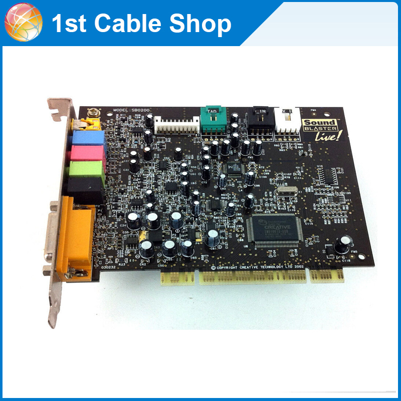 Free shipping&wholesale 1PCS CREATIVE SOUNDBLASTER LIVE 5.1 SURROUND PCI SOUND CARD SB0200(China (Mainland))