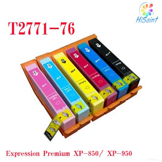 6Pcs,T2771 T2772 T2773 T2774 T2775 T2776 Printer Ink Cartridge ARC Chips Compatible Epson XP850 XP-950 Refillable Ink Cartridges<br><br>Aliexpress