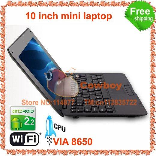 10pcs 10inch EPC mini laptop VIA8650 wifi Camera(China (Mainland))