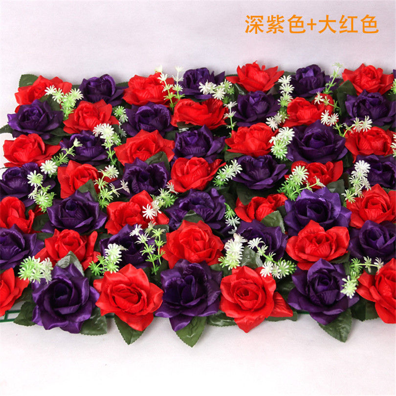 40cm*60cm Artificial Rose Flower Wall 56 heads for Wedding Backgroud Party Decoration Supermarket Floral Wall Decorative Flowers(China (Mainland))