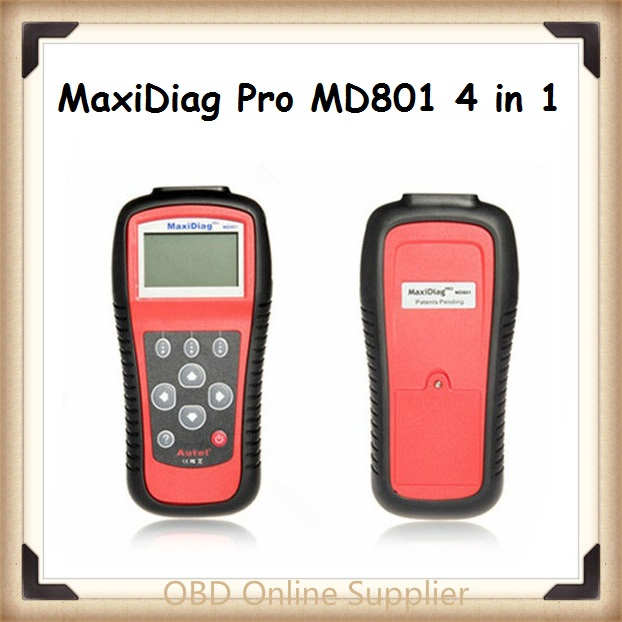 2016 Original Multi-Functional Scan Tool AUTEL MaxiDiag Pro MD801 4 in 1 Code Scanner MD 801 = JP701 + EU702 + US703 + FR704(China (Mainland))