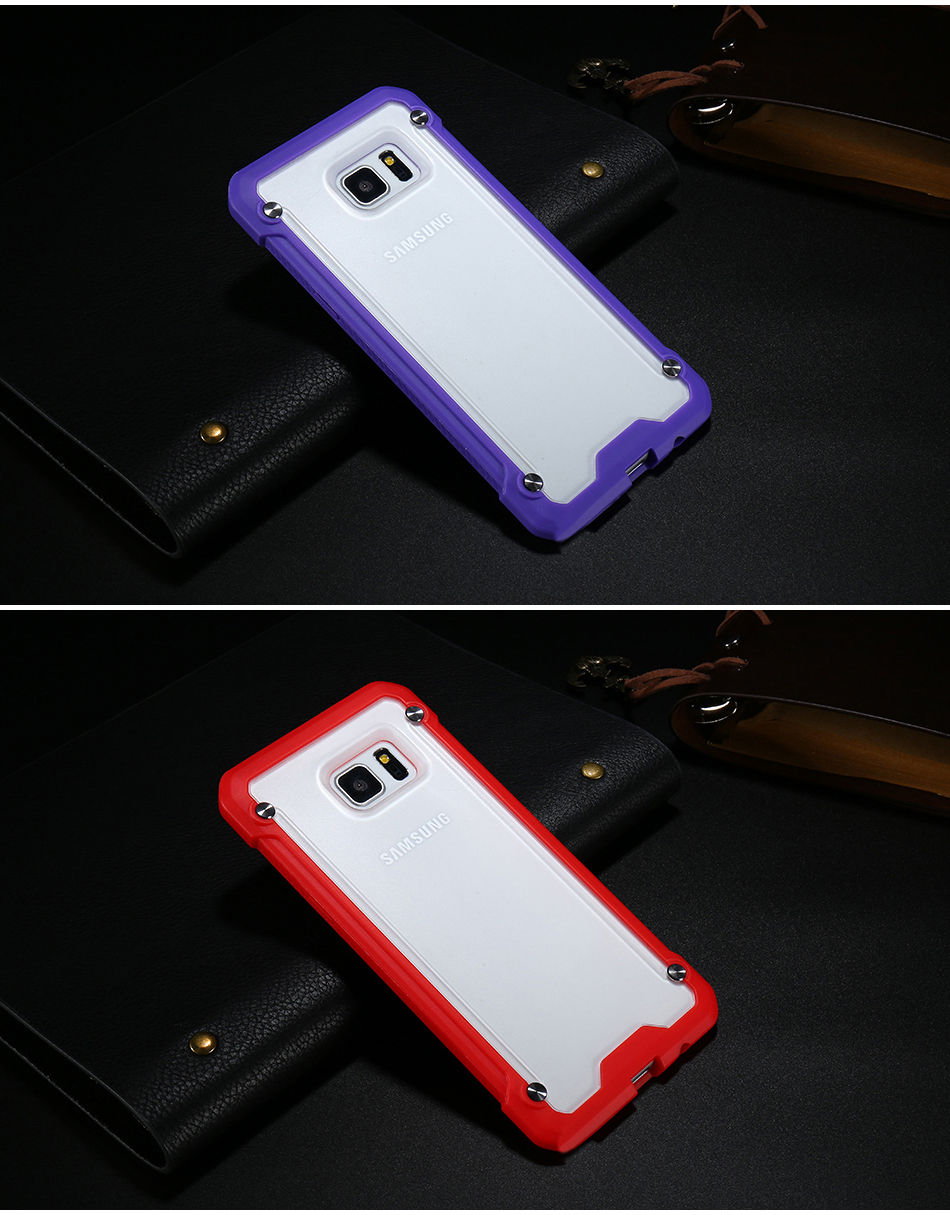 Phone Case For Samsung Galaxy S7 Edge G9350 5.5″Dual Layer Armor Silicone TPU Cases For Samsung S7 Edge Funda Capa Accessories