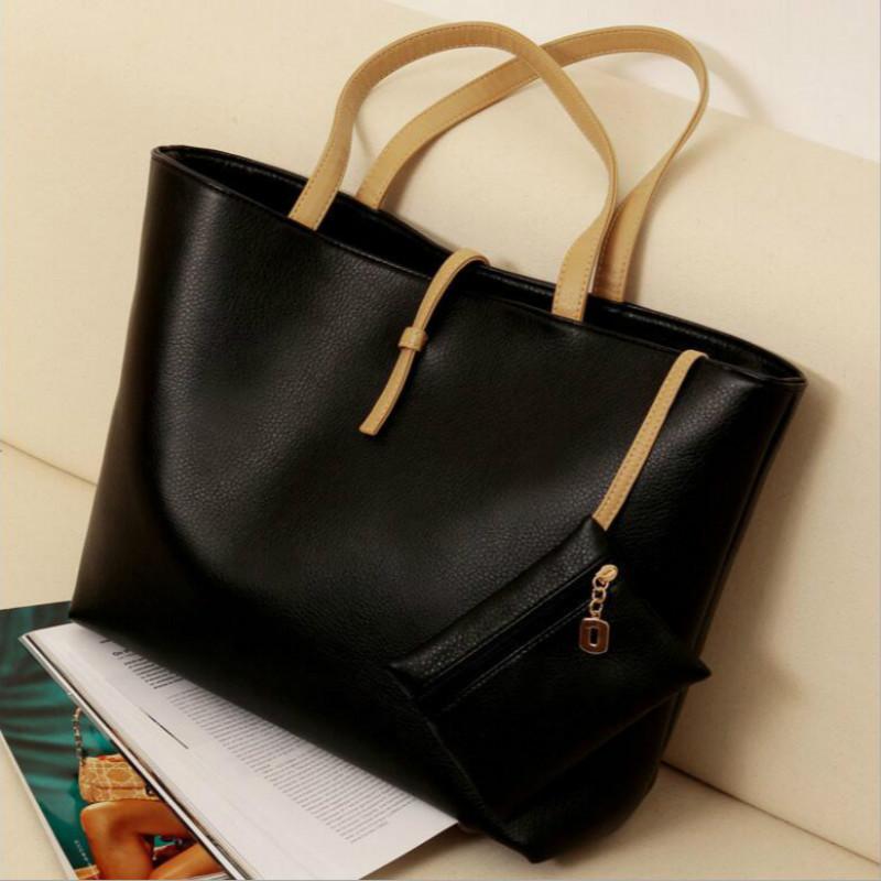 New Women PU Leather Handbag Purse Fashion School Bags clutch messenger bags Female bolsa senhora shoulder bag free shipping(China (Mainland))