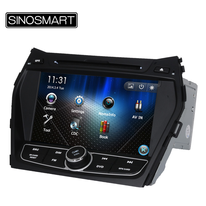 "Cheap Price Updated WIN CE Stable Performance 8"" Car DVD GPS Navigation for IX45 2013 Santa Fe 2013 Support Multi-language Menu(Hong Kong)"