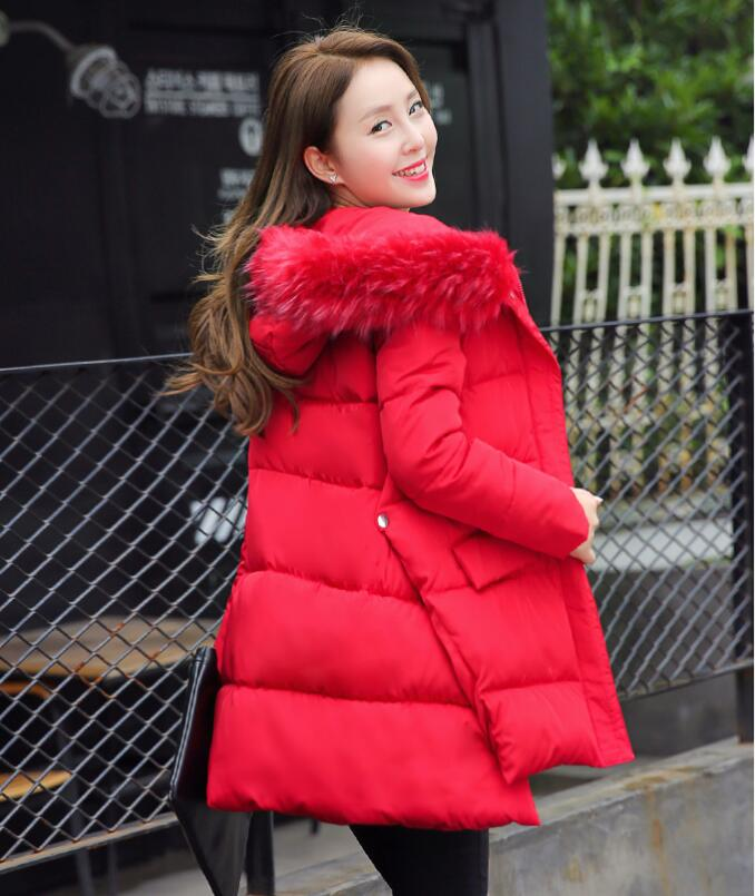 Fashion ladies parka hooded 2016 winter coat women jacket snow wear thick warm women's coats long outerwear jackets female(China (Mainland))