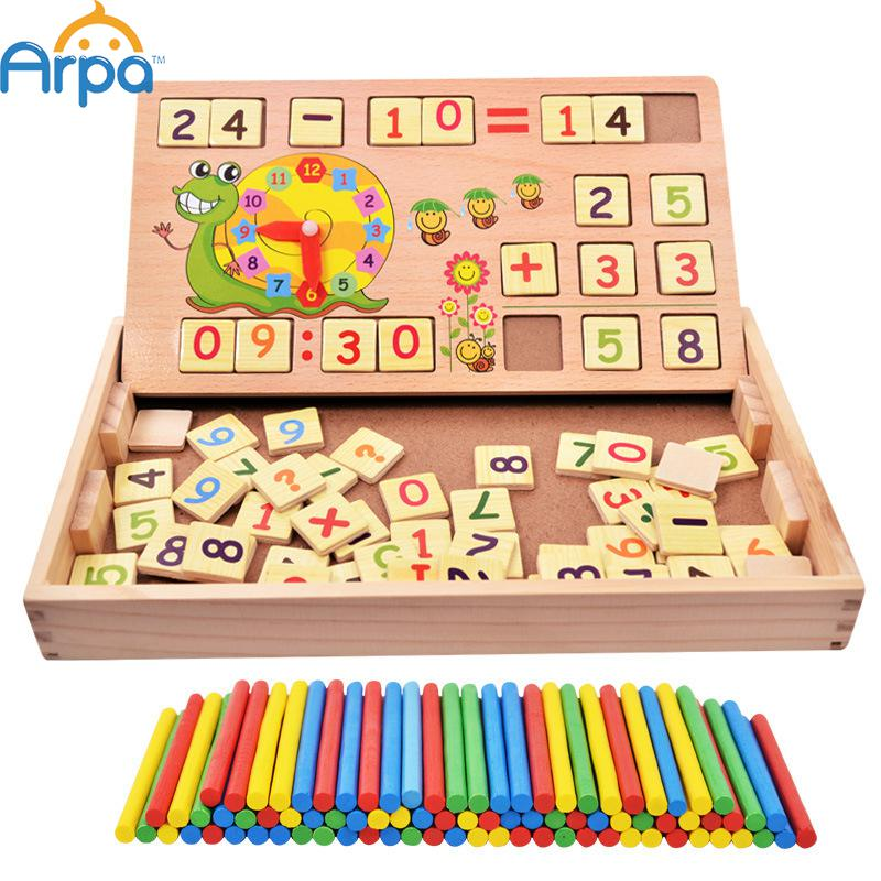 Montessori Teaching Aids Multifunctional Math Operation and Drawing Box Learning Preschool Early Childhood Educational Toys(China (Mainland))