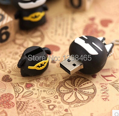 Newest Batman USB flash drives 64GB Pen drives flash card U disk External storage device cartoon toy+ functional usb flash drive